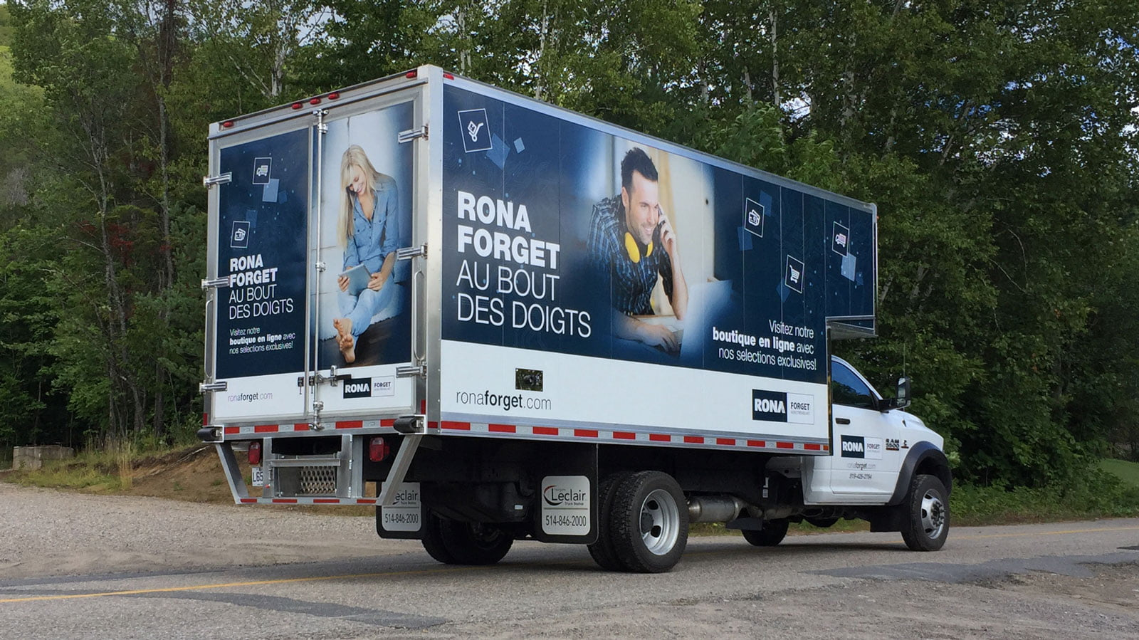 Rona Forget truck lettering, Concept C graphic design agency